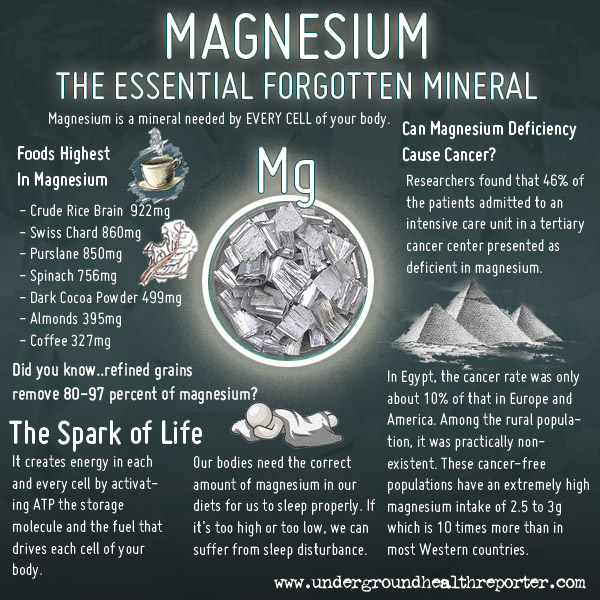 Magnesium Infographic Underground Health Reporter