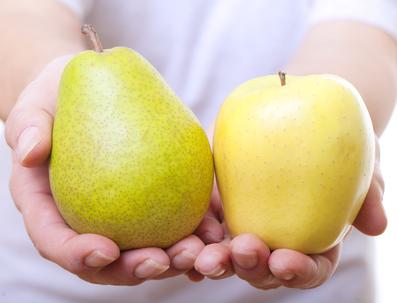 apple and pear shape