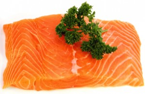 Salmon fillet with parsley
