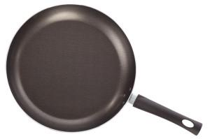 Teflon frying pan isolated on white background