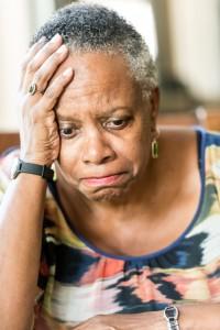 sad old senior