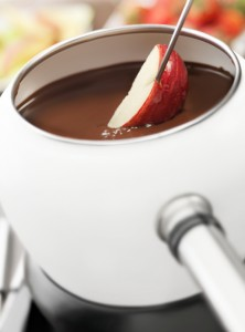 dark chocolate and apples