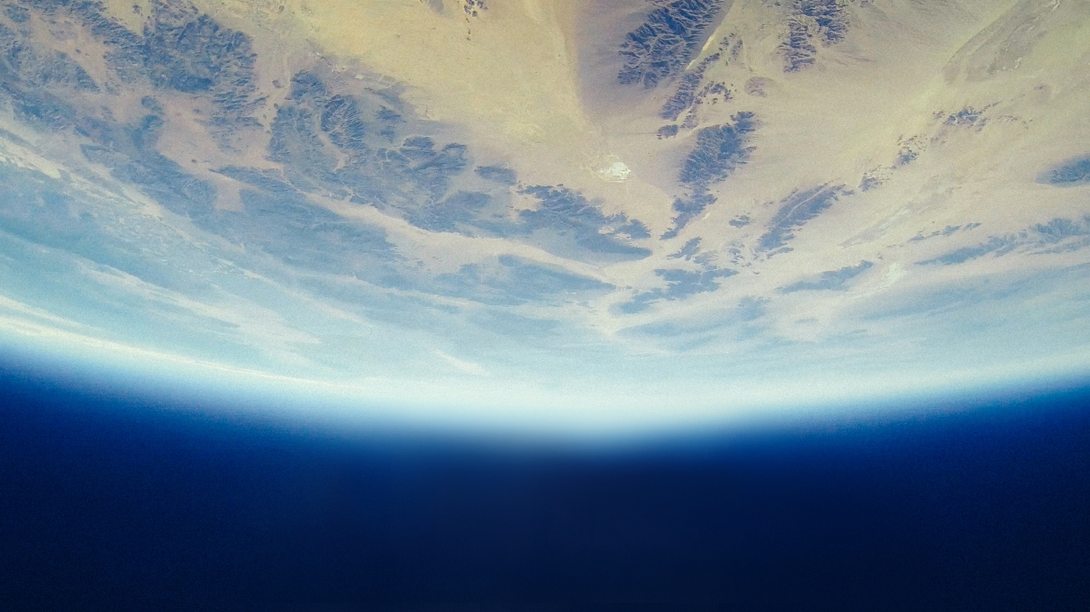 Planet earth above