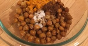 Chickpeas with spices