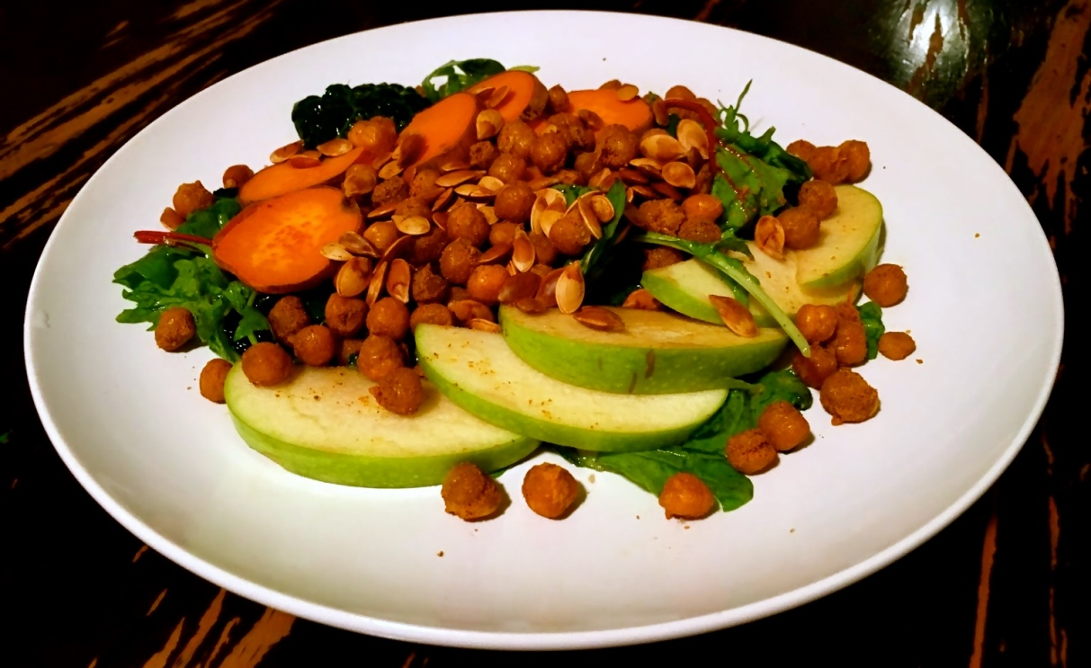 Fall Superfood Salad with Spiced Cider Dressing