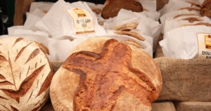 display of assorted artisan bread