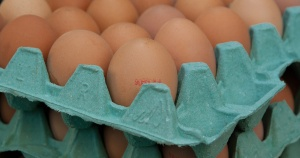 brown eggs in egg crates