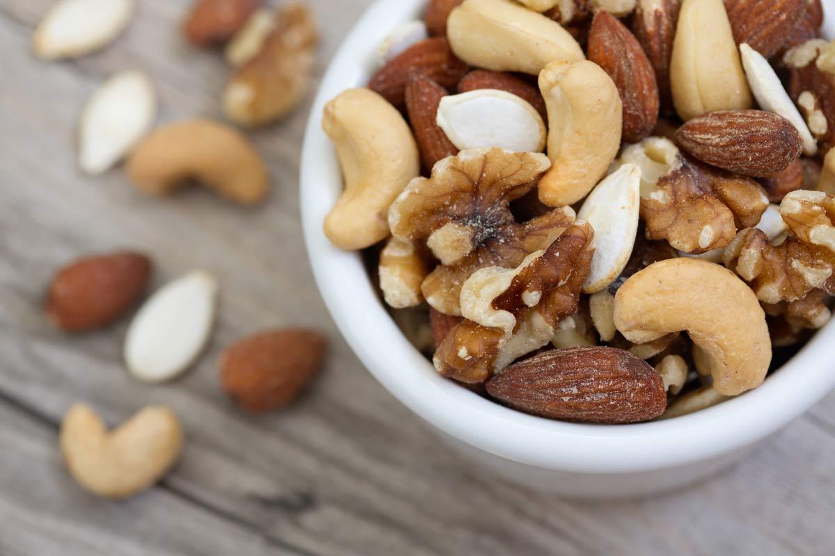 bowl of mixed nuts