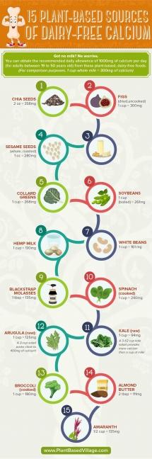 Infographic - plant based calcium