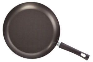 Teflon frying pan isolated on white background