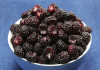 black raspberries in a bowl