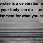 quote about exercise being a celebration of what your body can do