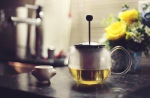 pitcher of green tea