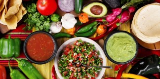 traditional mexican food, salsas,and ingredients