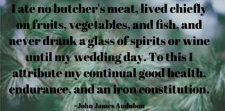 John James Audubon quote about achieving good health