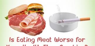 Is eating meat worse than smoking?
