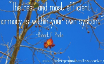 Robert C Peale quote about the most efficient pharmacy