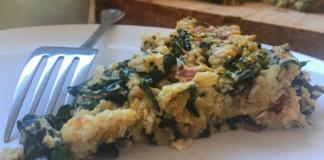 kale and basil fritata