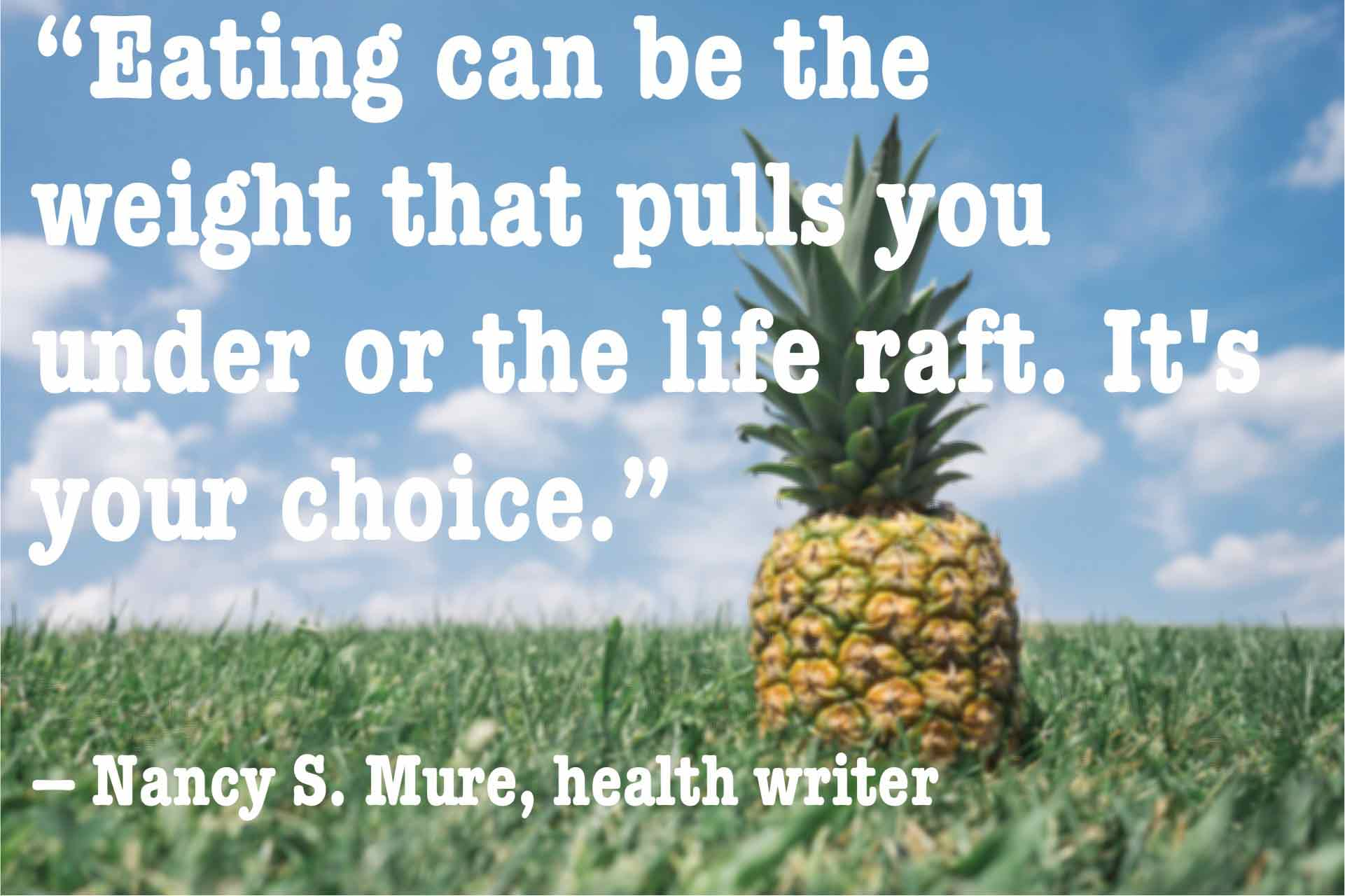 Nancy Mure quote about eating