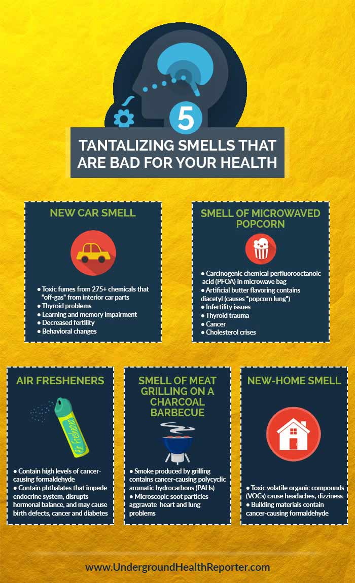 Infographic: Tantalizing smells that are bad for your health