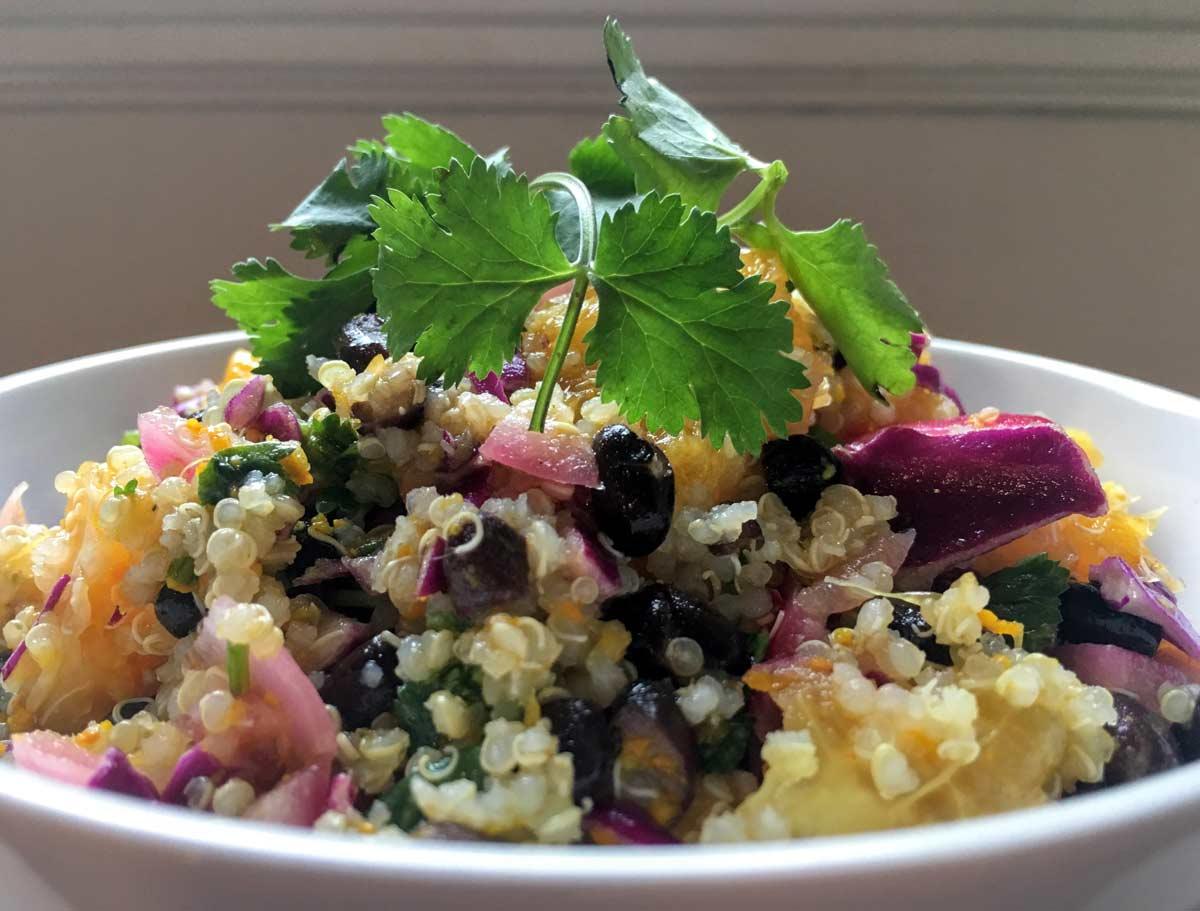 fresh cilantro citrus quinoa salad